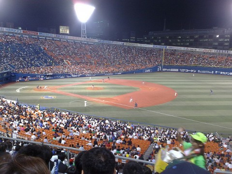 An Exciting Evening of Baseball at Yokohama Stadium in Japan images