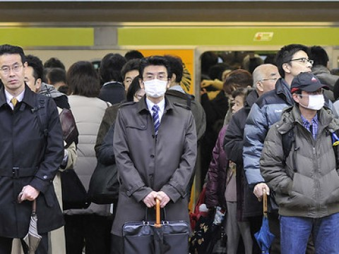 "Railway rules - ""Mutual Cooperation Culture"" in Japanese commuter trains images"