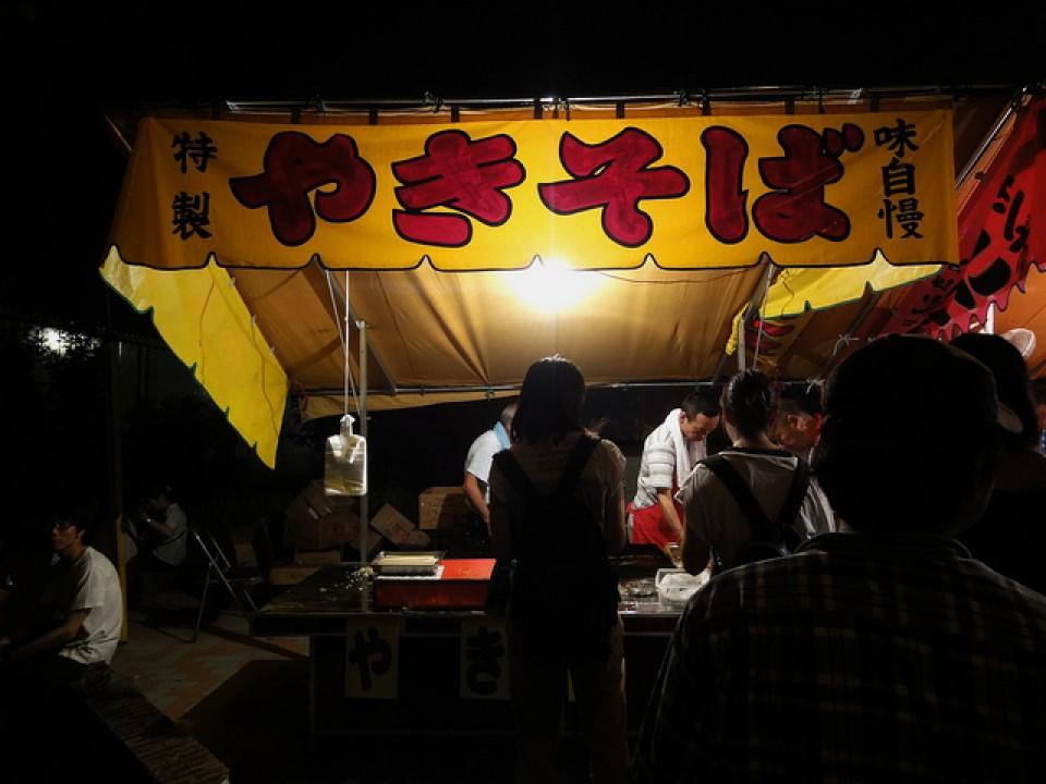Yakisoba food stall