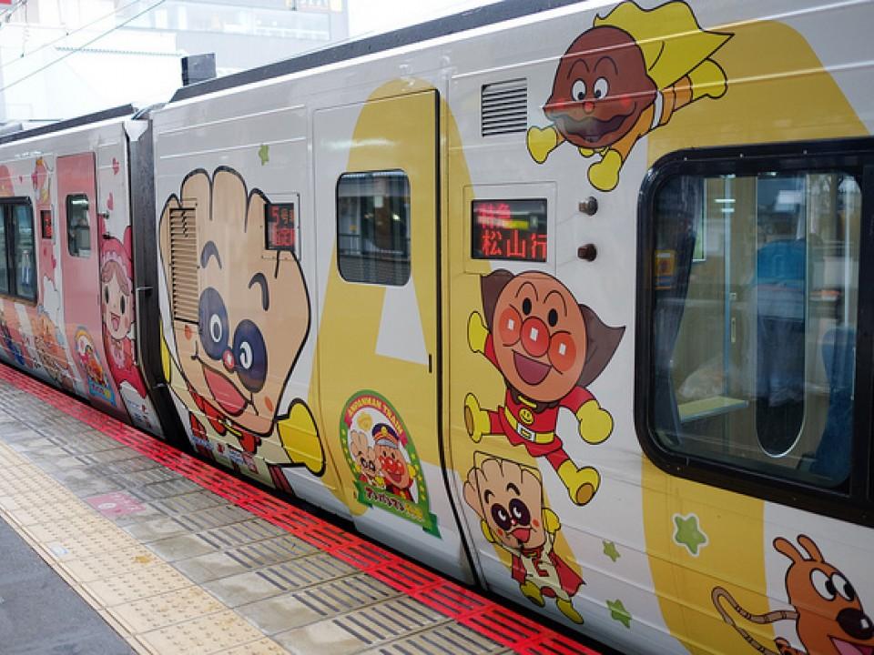 Creampanda on Anpanman train