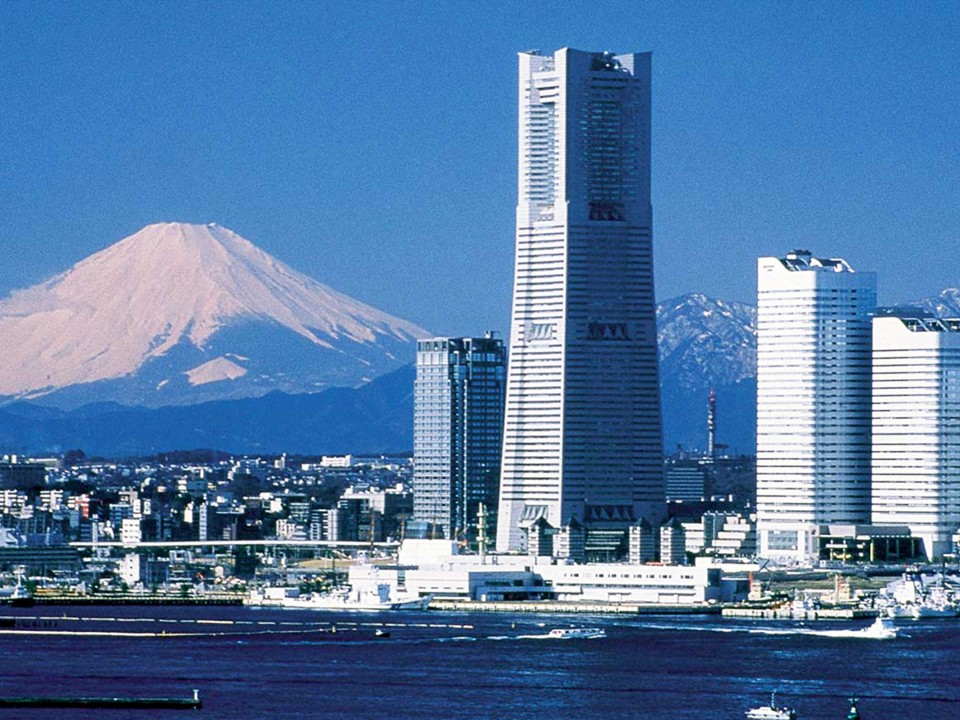 Landmark Tower and Mt. Fuji