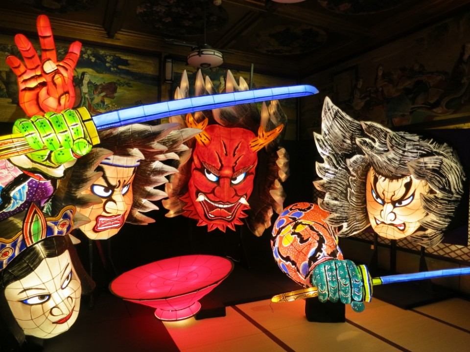 Nebuta festival light float from Aomori Prefecture