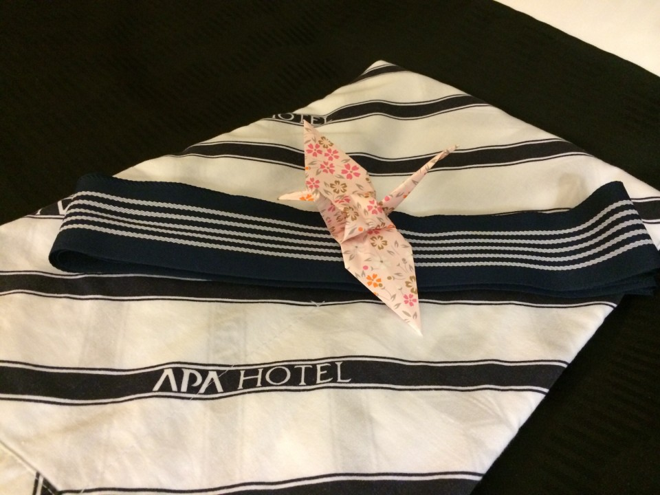 APA hotel with warm welcome origami