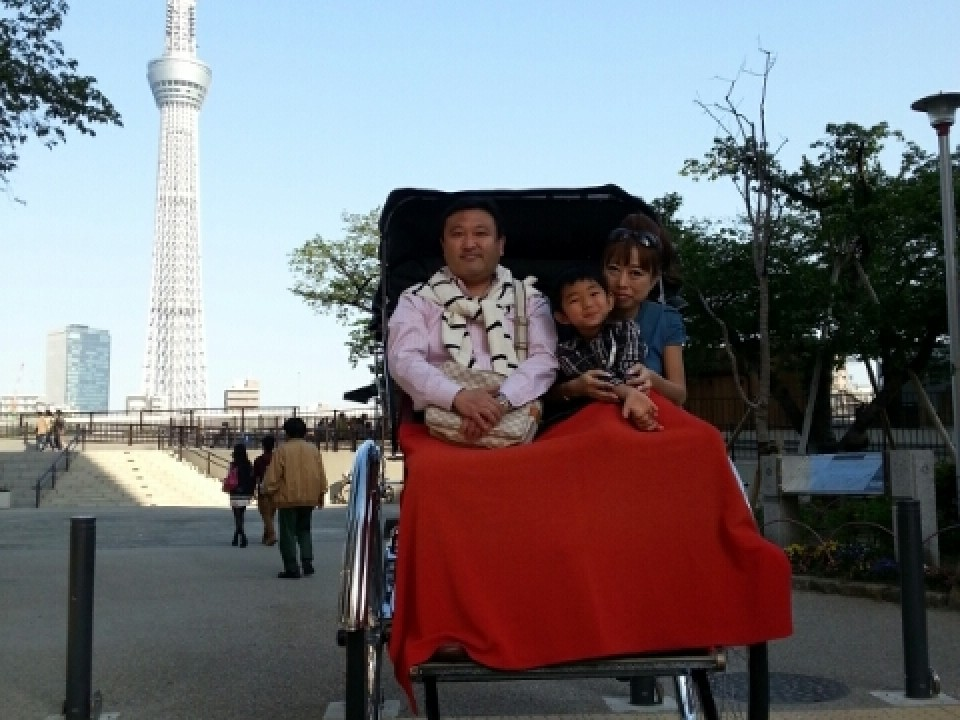 Great for a three person ride around Asakusa.