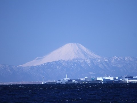 Mt.Fuji viewing over the Tokyo Bay from Chiba/Makuhari images