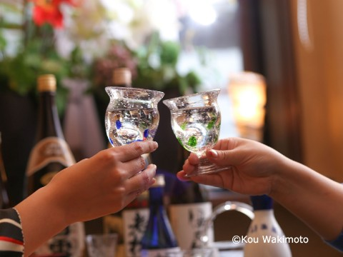 Cheers with Japanese Sake images