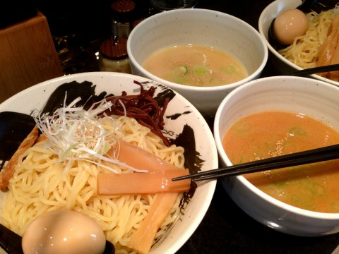 Tsukemen - ramen noodles dipped in rich sauce images