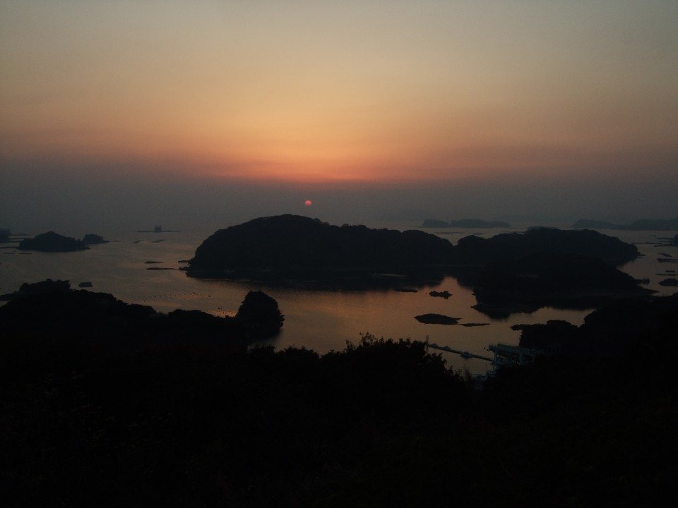 Sunset from Sasebo in Nakasaki Prefecture