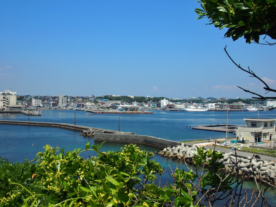 View of Misaki Port from Jogashima