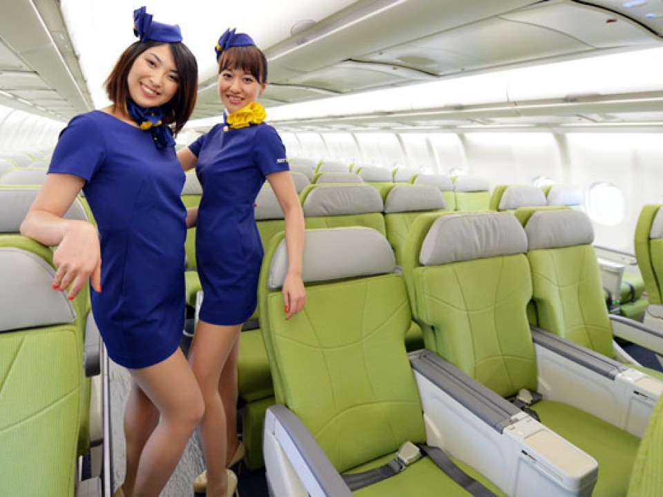 Pretty Stewardesses and Wide Seats