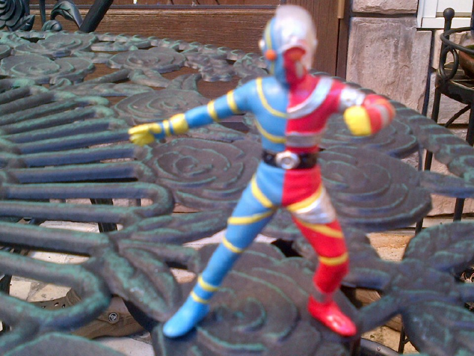 My Kikaida figure from my friend at TV Asahi