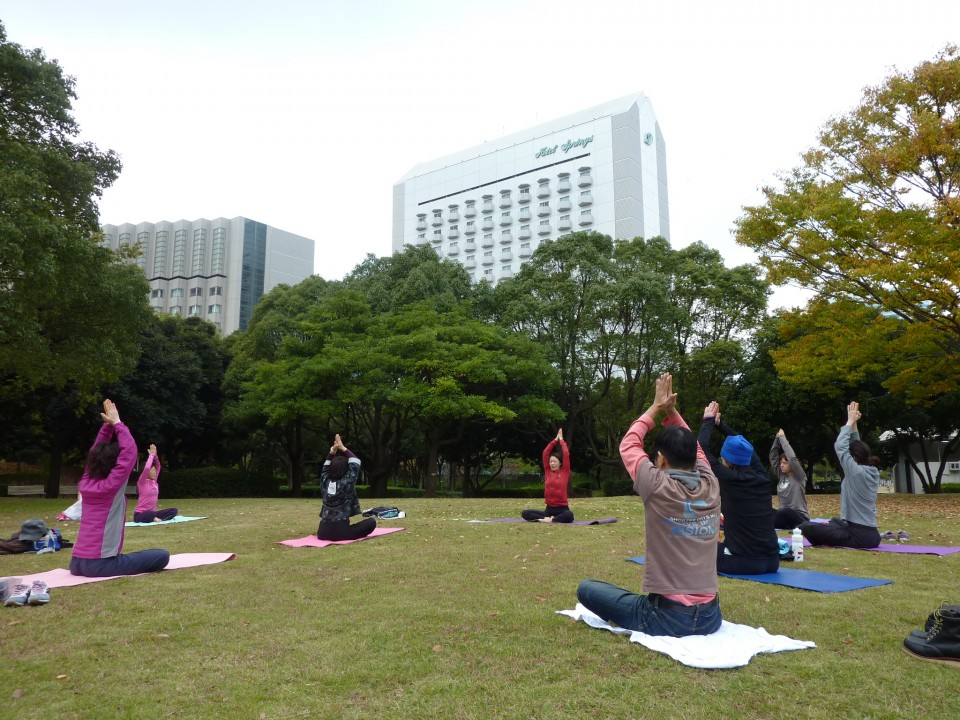 Yoga Work Shop at Park in Chiba