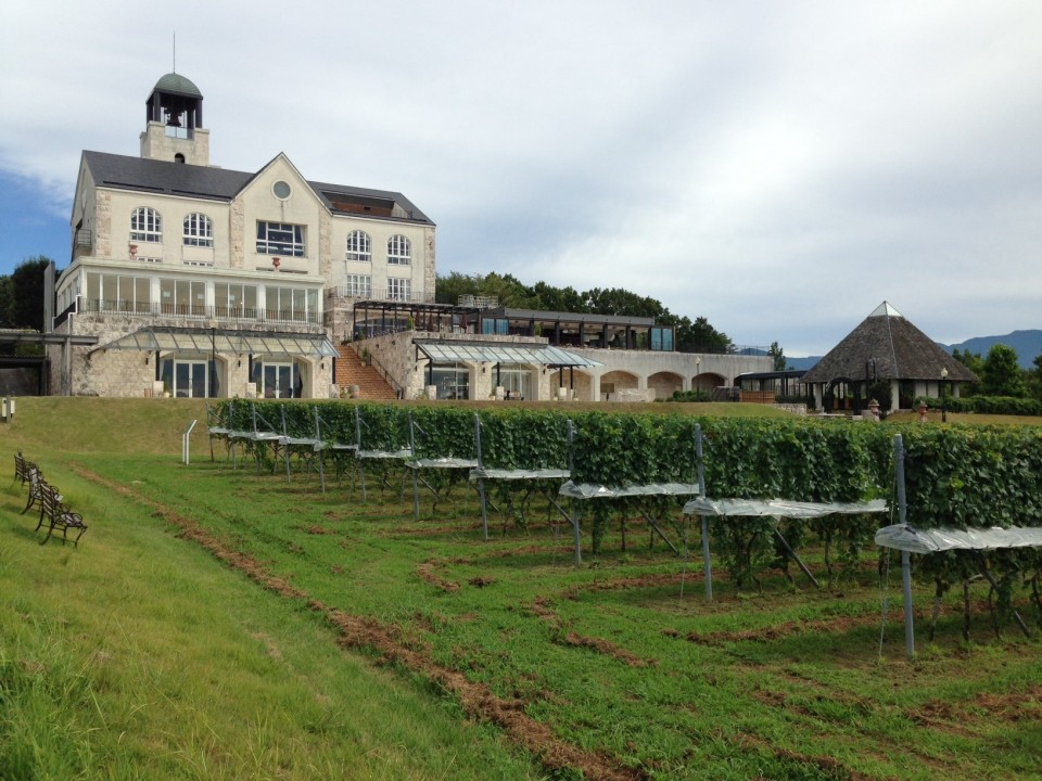 The chateau of the Nakaizu Winery Hills
