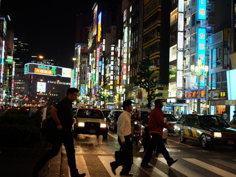Neon lights of Shinjuku images