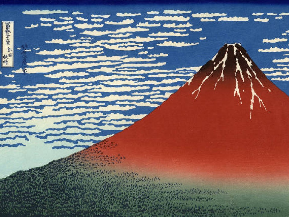 A famous & colorful ukiyo-e piece depicting Fuji – Image by: www.bestweb-link.net