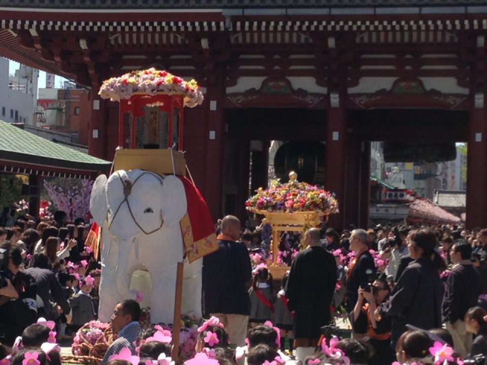 Elephant at Senso-ji 2013