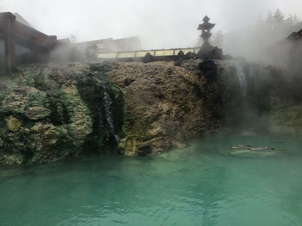 Hot spring's emerald water perfumes the city