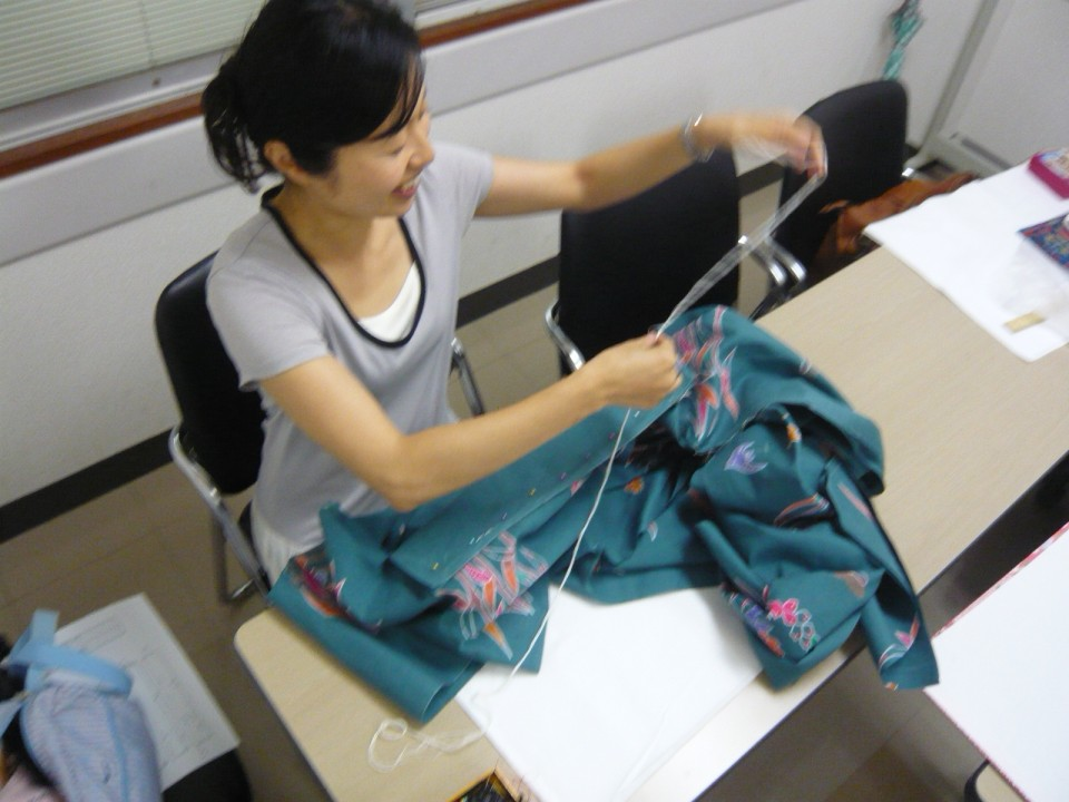 sewing the main front part