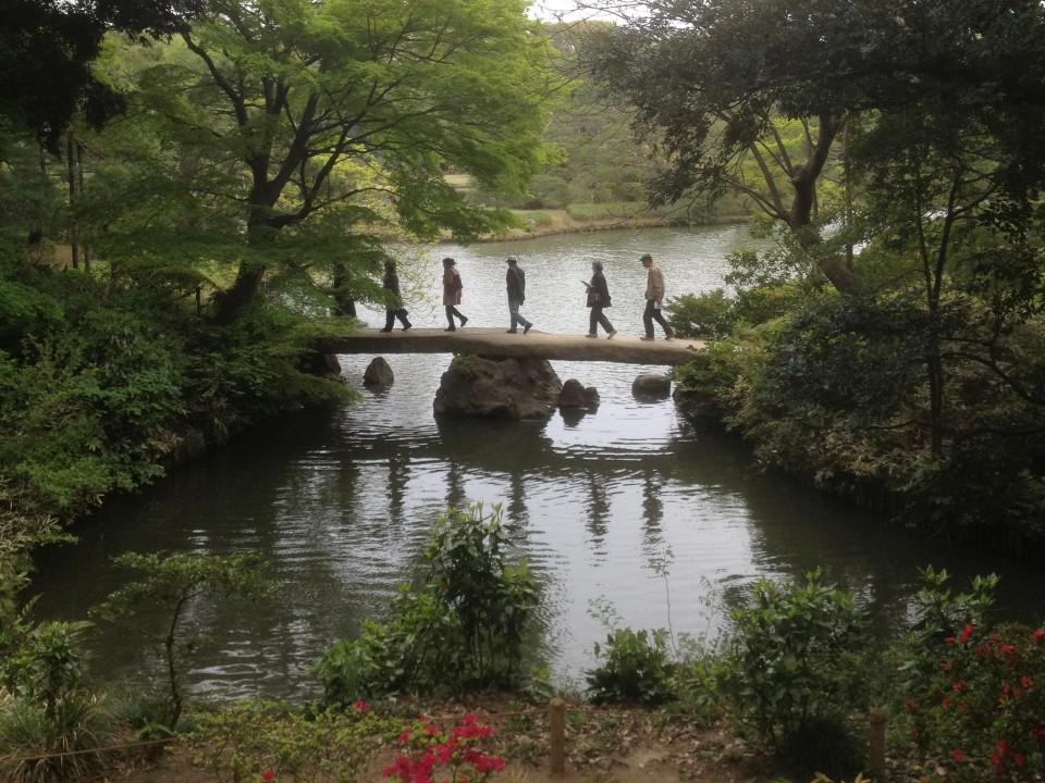 Crossing the Togetsu Bridge