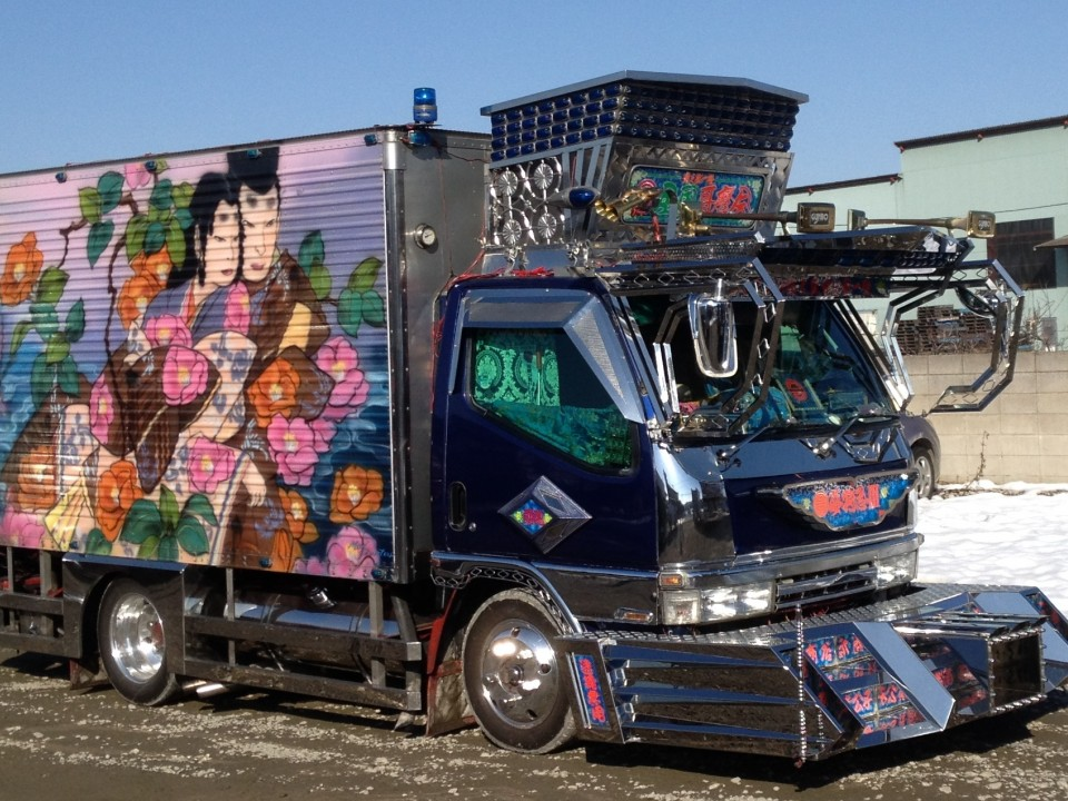 Decorated Small Cargo Truck