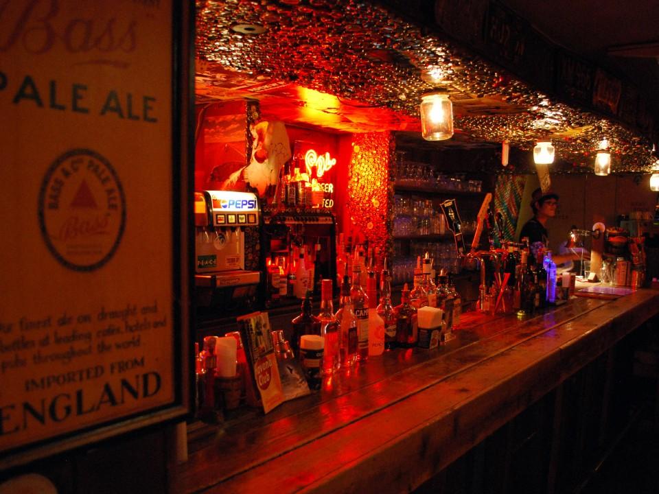 The bar at Thumbs Up