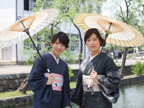 Denim Kimonos--Only in Kurashiki! images