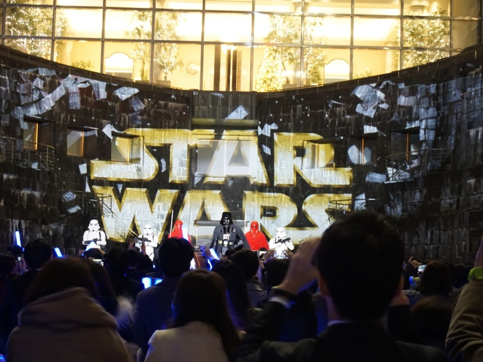 Star Wars Projection Mapping