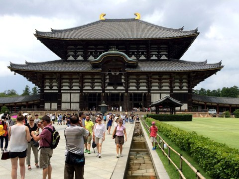 The world-famous Nara Daibutsu (Big Buddha of Nara), images