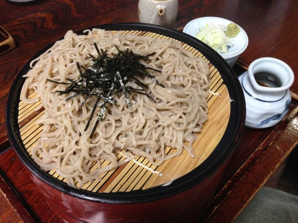 soba lunch in Matsumoto, Nagano