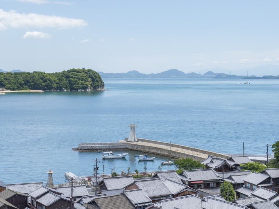 The current view of Mitarai and Shikoku in the background