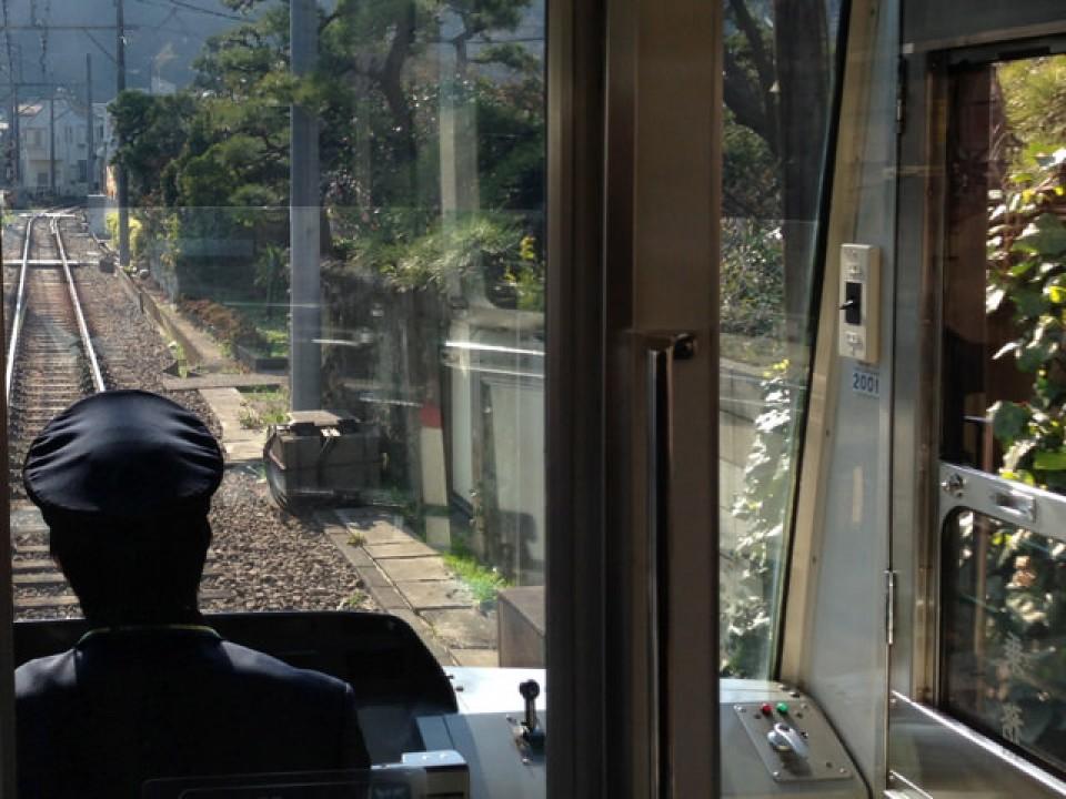 Enoden going through Kamakura