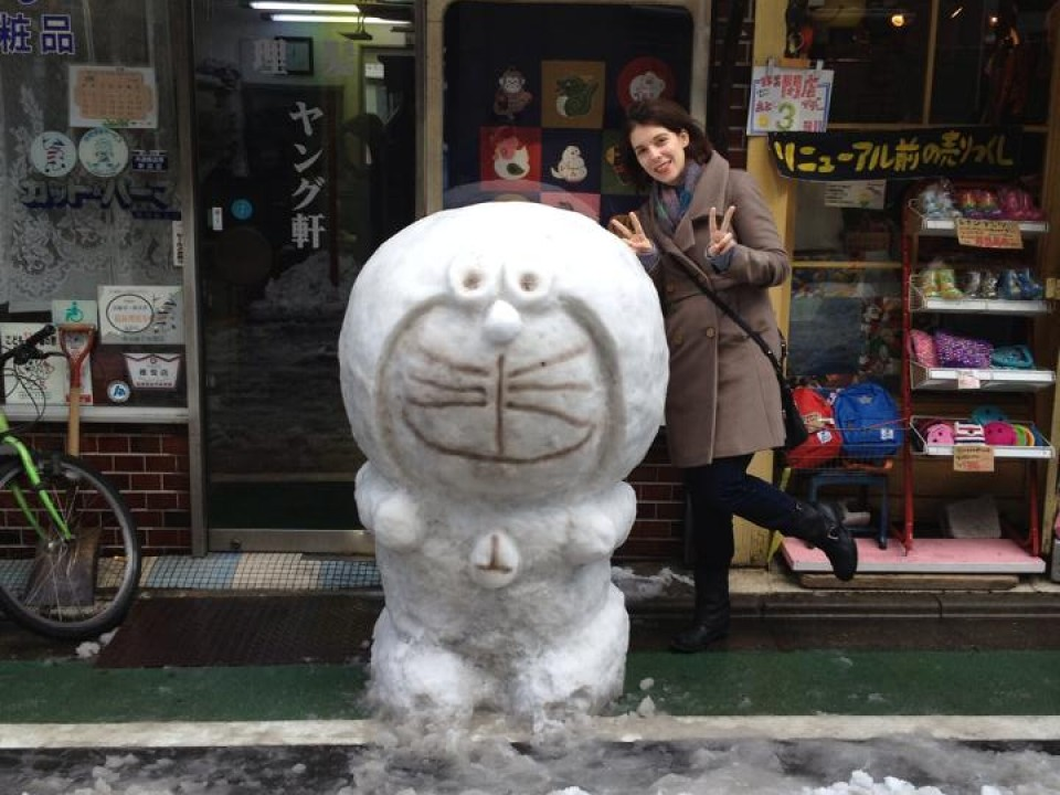 Tiny snow sculpture festival in Tokyo