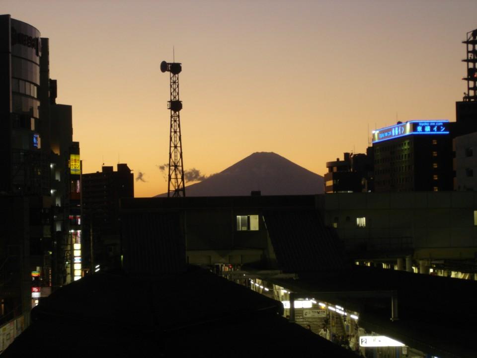 Mount Fuji from Fujisawa station
