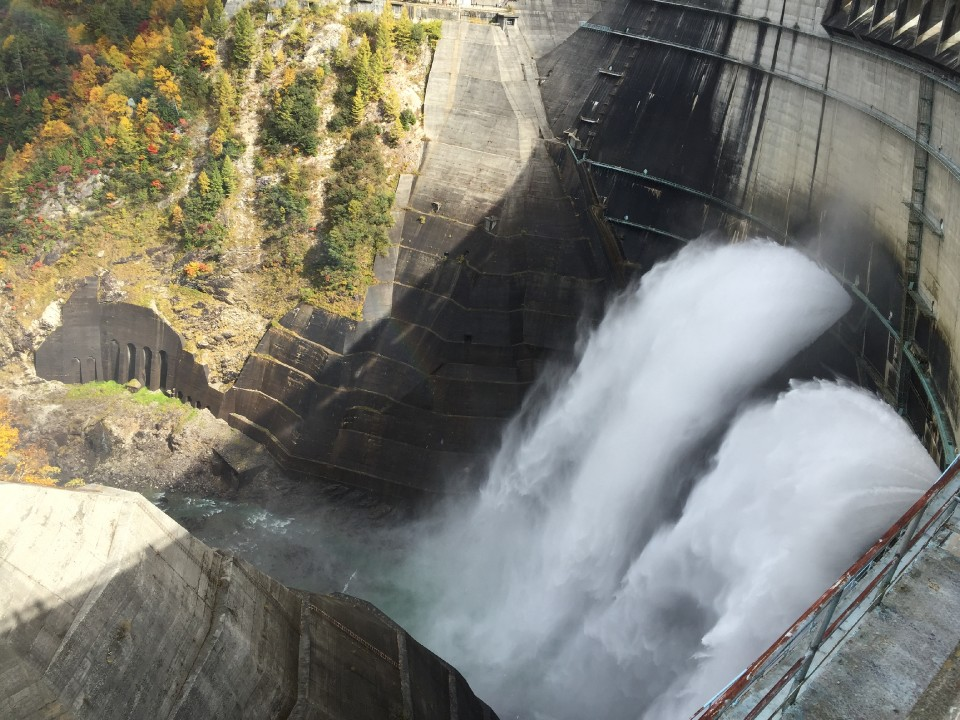 10 tons of water every second from the dam
