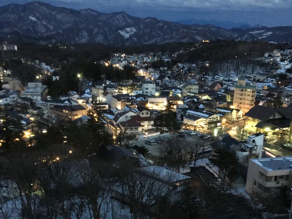 Magical Kusatsu at night