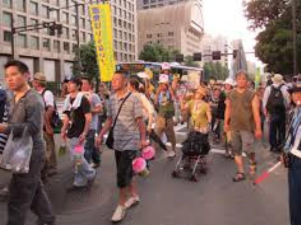 Japanese people walking