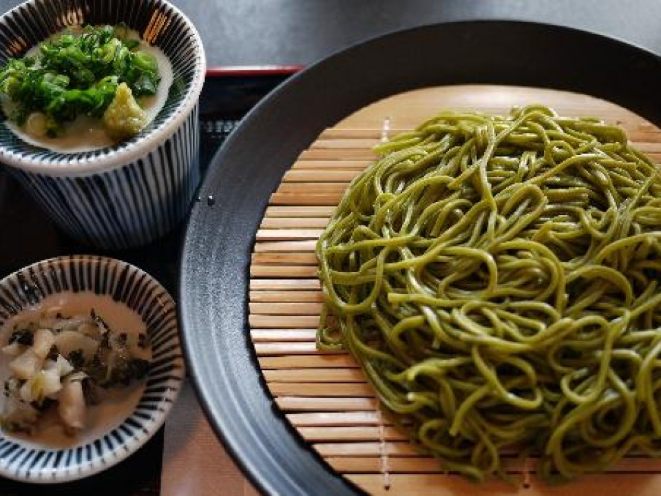 Green Tea Soba from Nakamuratokichi