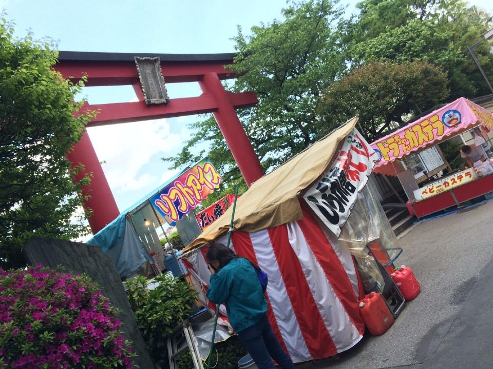 Tenjin with yatai junk food