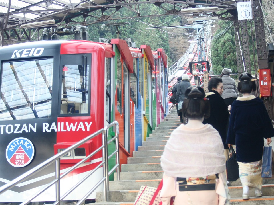 Cable Car on Mitakesan