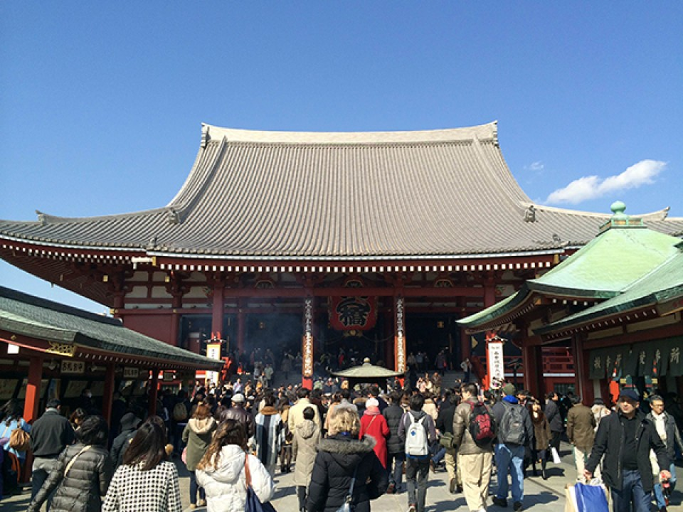 Sensō-ji Temple in Asakusa, Tokyo.