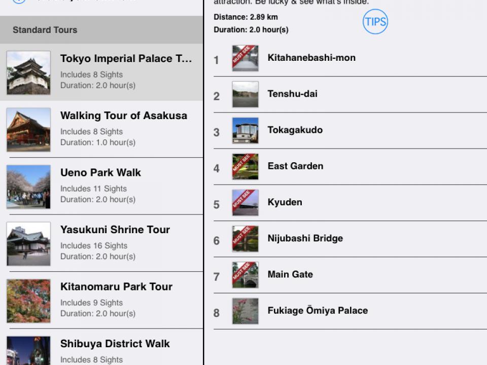 The Tokyo app