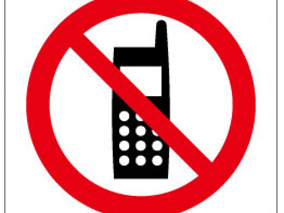 No Cell Phone Talk sign