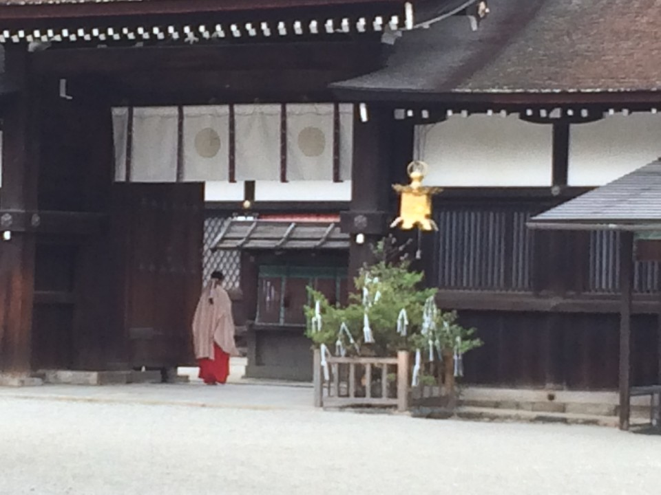 A leap in the past at Shimokamo shrine