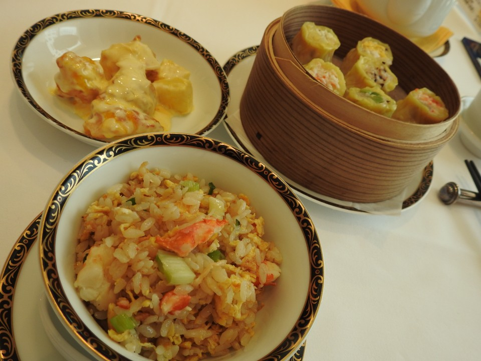 Ebi mayo, Shumai, Fried rice