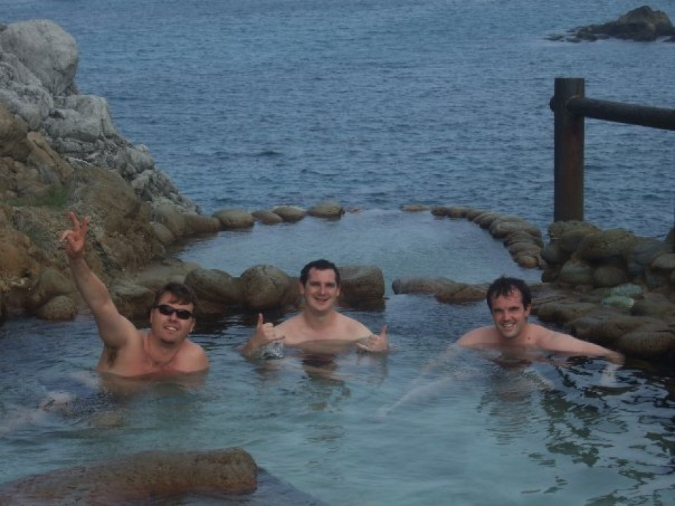 Just one of many free onsen.