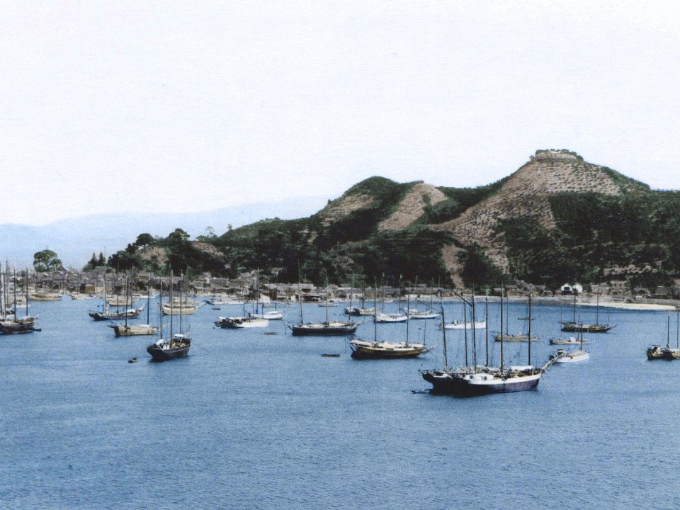 A colorized image of Mitarai in the 1900s