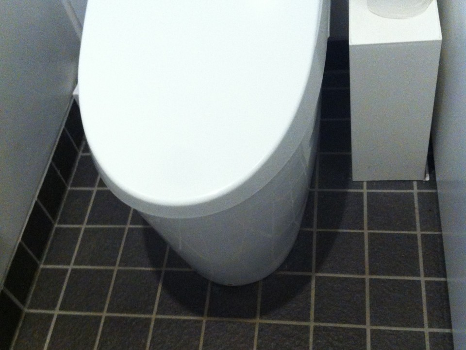 Design toilets at Hara Museum