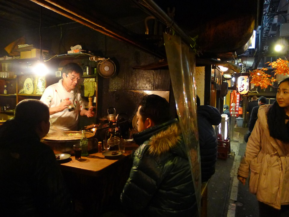 Piss Alley is devoted soley to the love of yakitori, Japanese chicken skewers.