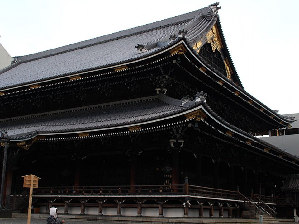 Hongan-ji Temple in Kyoto.