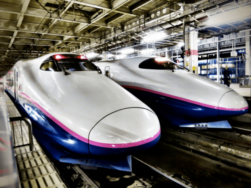 The Shinkansen (Bullet Train)